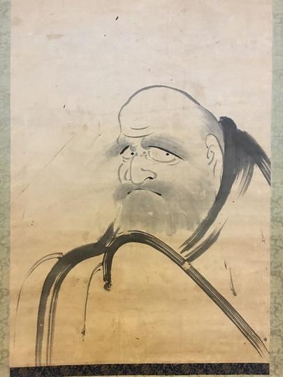 風外慧薫 達磨図|古美術・掛け軸の販売・買取・鑑定-松本松栄堂